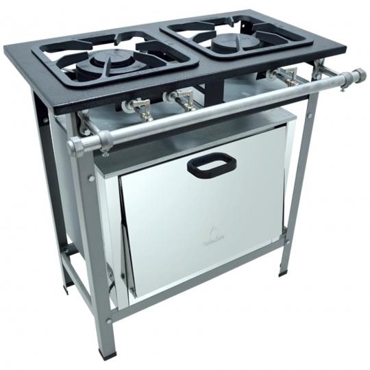Fogão 2b Baixa pressão c/ forno 1S/1D S2000 P7 Grelhas 30x30 M10 - METALMAQ