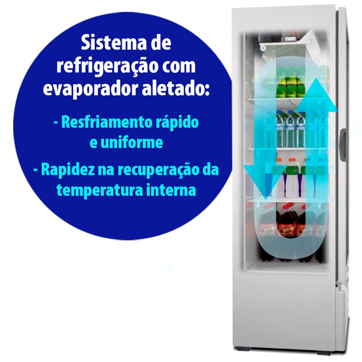 Refrigerador Porta em Vidro 406 litros VB40RE – Metalfrio