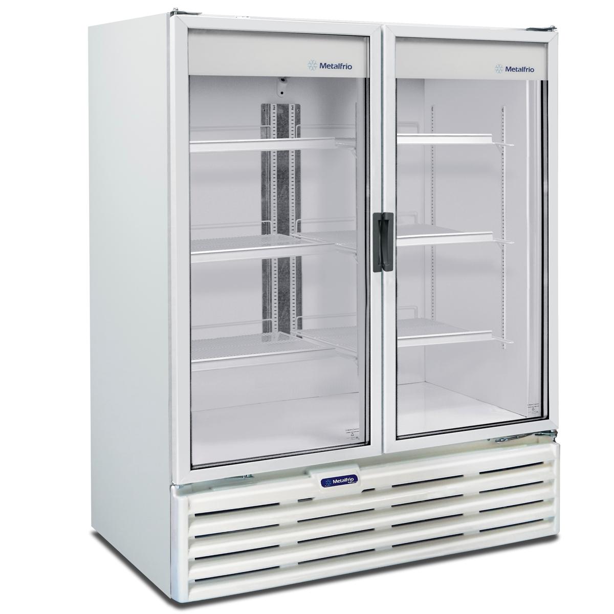 Refrigerador 2 Portas Em Vidro 1 186 Litros Vb99r Metalfrio Sotomano